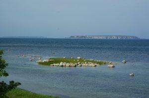 Utsikt från vår plats mot Karlsöerna.